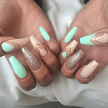 If you're into cool nail designs, then this long shape paired with a flap  tip could be something you like. Ballerina nails are considered to be  wearable and ... - 8 Go-To Nail Salon Designs - Polish Perfect Blog