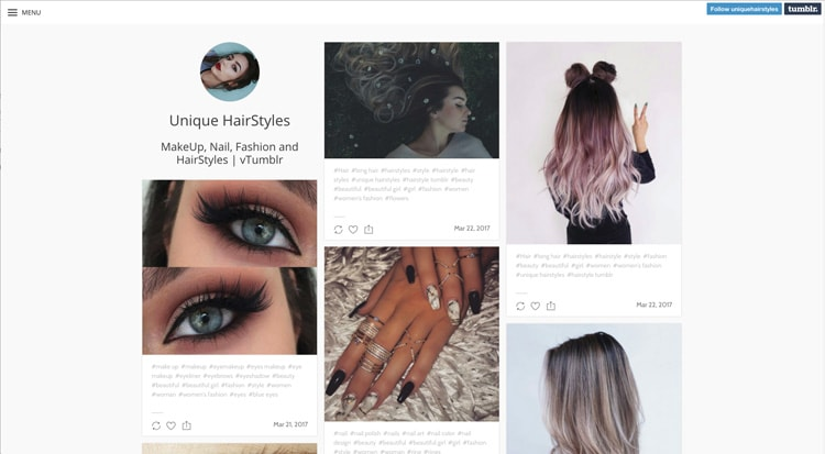 Tumblr Nail Designs: Unique HairStyles