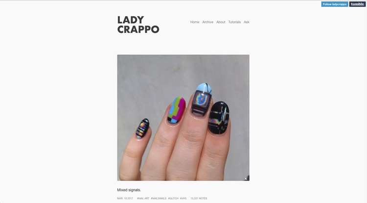 Tumblr Nail Designs: Lady Crappo