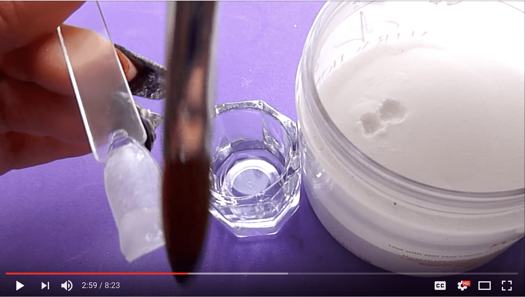 Applying acrylic powder