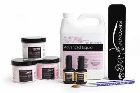Acrylic liquid: The Beyond Powders System by Alfalfa Nail Supply